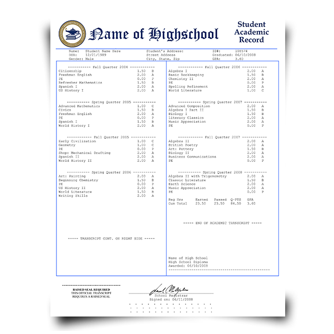 buy fake high school transcripts | fake high school transcripts | high school transcripts