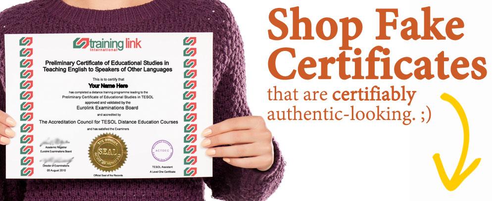 fake certificates | buy fake certificate | phony certificates