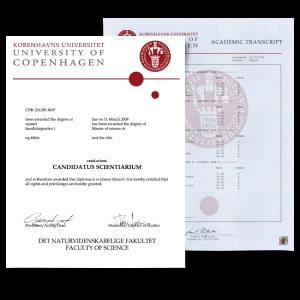 Fake Diploma & Transcript from Denmark University