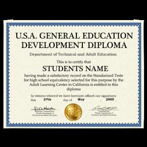 Fake GED Diploma from USA