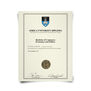 Fake Diploma from South Africa University