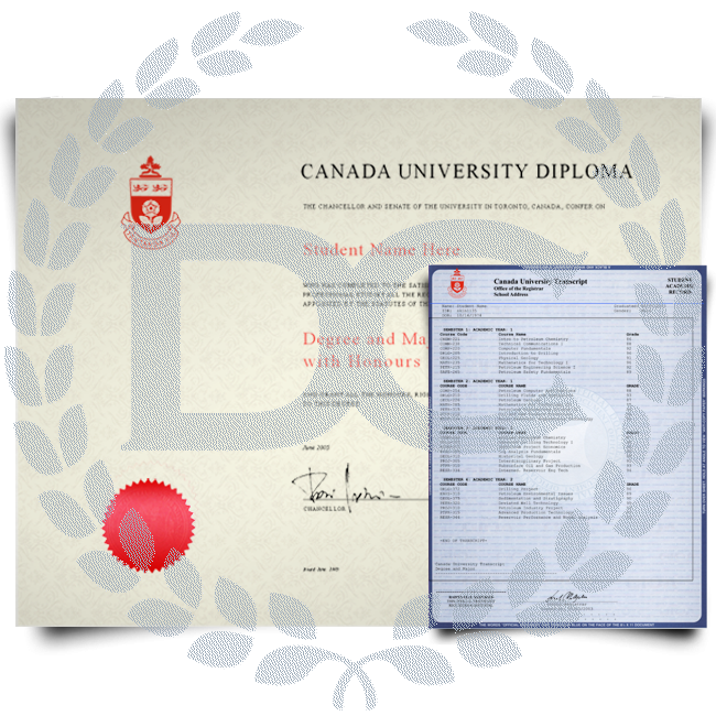 Fake Canada College Diploma and Transcripts! Complete Package! Best Deal! 100% Satisfaction Guaranteed! Only $379.00!