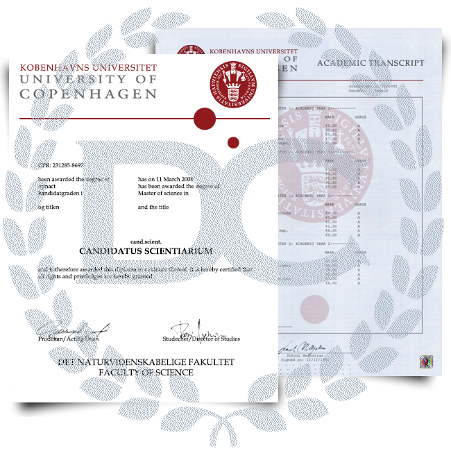 Fake Diploma & Transcript from Denmark University! Complete Package! Best Value! 100% Satisfaction Guaranteed! Just $379.00!
