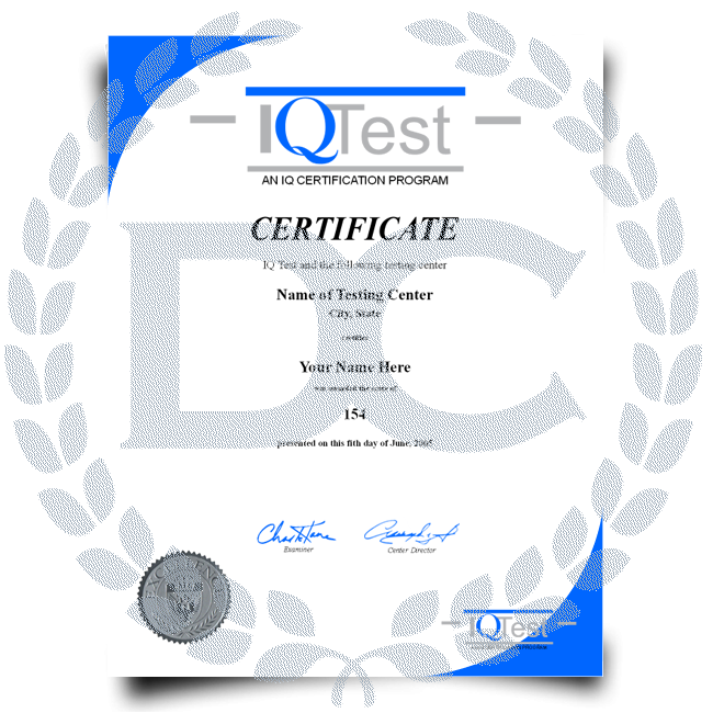Buy Fake Mensa Certificate! Top Premium Layouts! Updated 2020! Only $74.95!