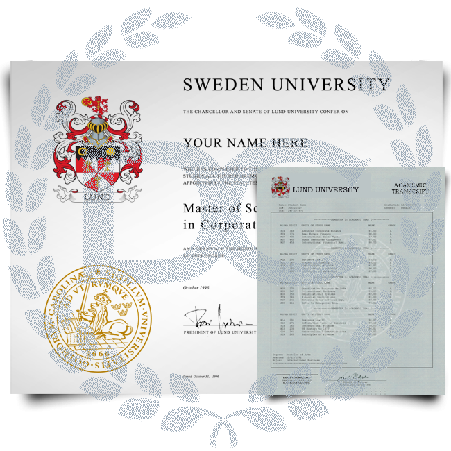 Fake Diploma & Transcript from Sweden University! Complete Package! Best Value! 100% Satisfaction Guaranteed! Just $379.00!