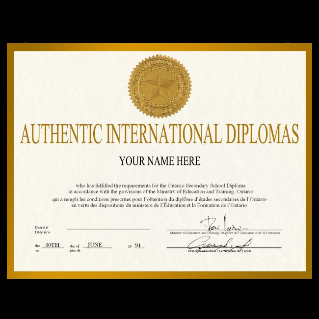 Fake Diploma from International University