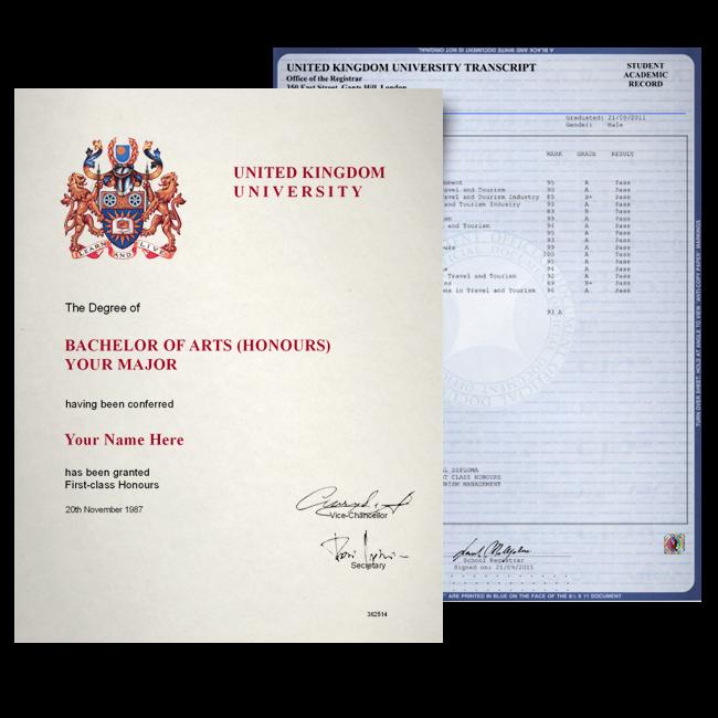 Fake Diploma & Transcript from United Kingdom University