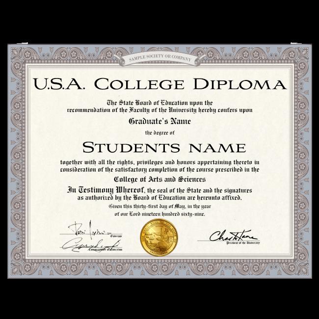 Fake Diploma from USA University