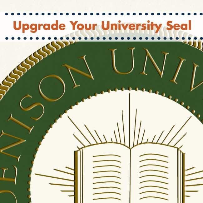 Raised & Embossed College Seal Upgrade