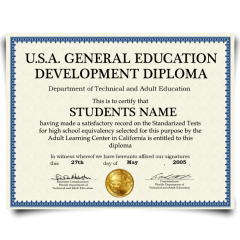 Buy Fake GED Diploma from USA! Top Premium Layouts! Updated 2020! Just $69.00!