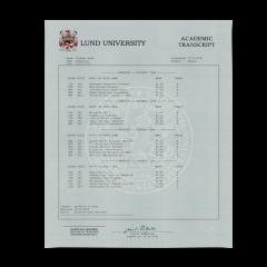 Buy Fake Transcript from Sweden University! New 2020 Classes! Embossed! Most Lifelike Novelty! For $199.00!