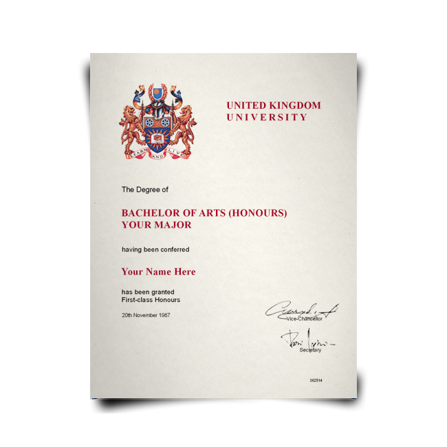 Fake Diploma from United Kingdom University