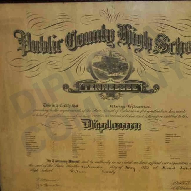 vintage high school diploma