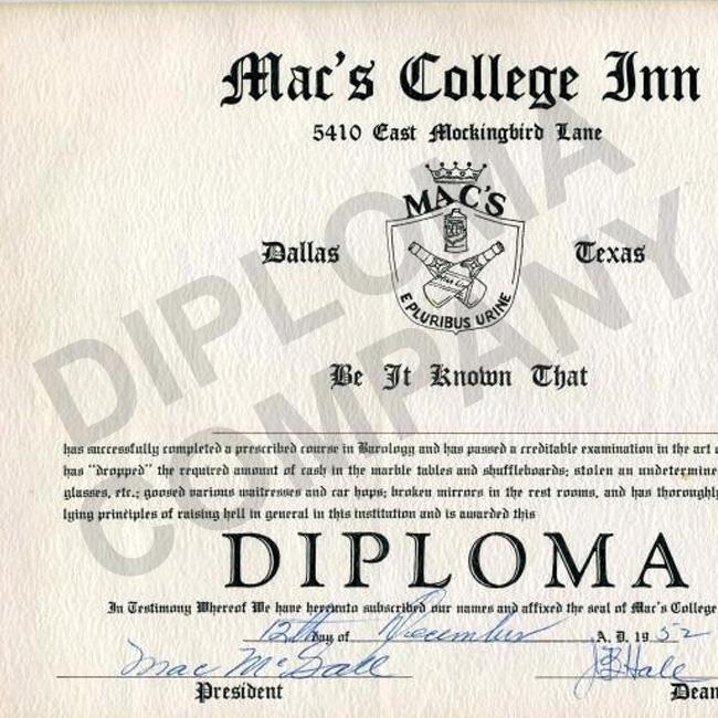 historic college diploma