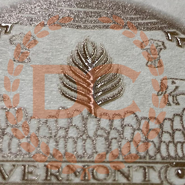fully embossed shiny gold metallic seal on fake vermont diploma