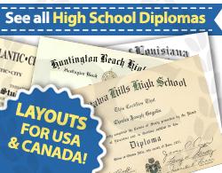 see all fake high school diploma choices at Diploma Company Canada!