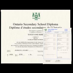 Canada High School Fake Diploma & Transcript