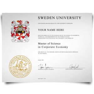 Fake Diploma from Sweden University