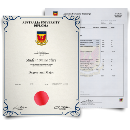 Fake Diploma & Transcript from Australia University! Complete Package! Best Deal! 100% Satisfaction Guaranteed! Only $379.00!