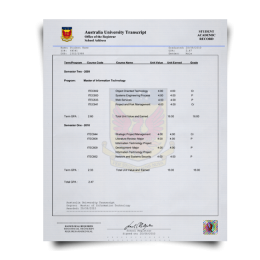 Buy Fake Transcript from Australia University! New 2020 Courses! Embossed! Most Realistic Novelty! For $199.00!