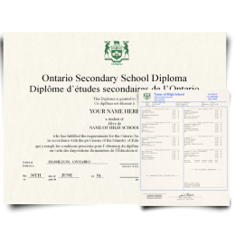Canada High School Fake Diploma & Transcript! Total Package! Best Deal! 100% Satisfaction Guaranteed! Just $159.00!