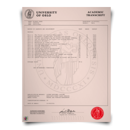 Order  Fake Transcript from Norway University! New 2020 Courses! Embossed! Most Lifelike Novelty! For $199.00!
