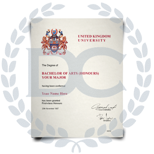Buy Fake Diploma from United Kingdom University! Best Premium Layouts! Updated 2020! Just $199.00!
