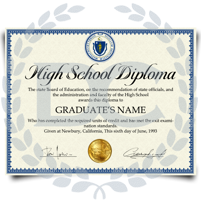 Buy Fake High School Diploma from USA! Best Premium Layouts! Updated 2020! Just $99.00!