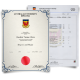 Australia diploma from university with red wax seal next to set of light blue academic transcripts showing college classes