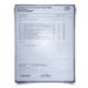 Set of singed UK university academic mark sheets featuring complete United Kingdom class details signed on blue academic security paper