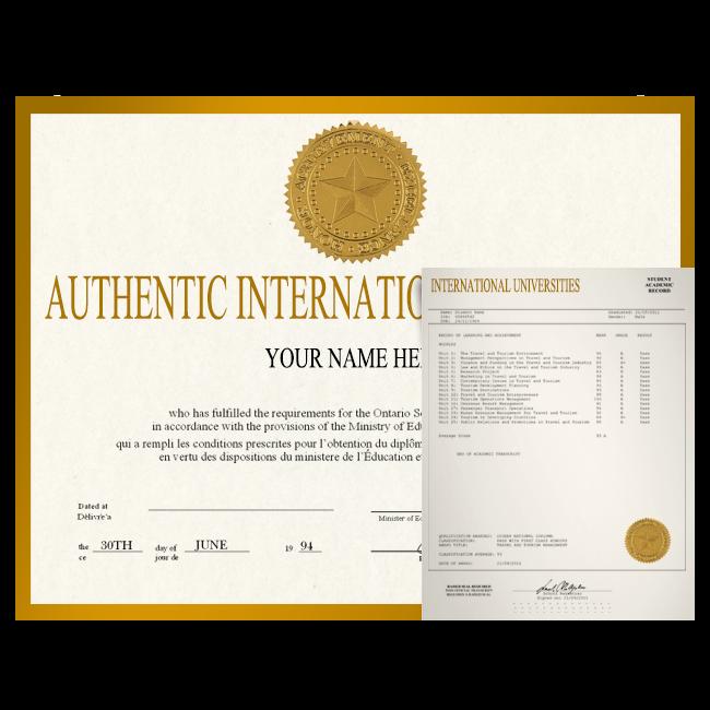 Fake Diploma & Transcript from International University