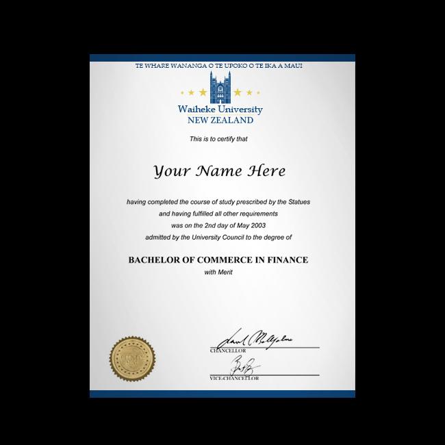 Fake Diploma from New Zealand University