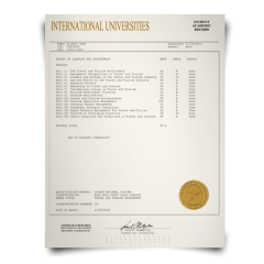 Buy Fake Transcript from International University! New 2020 Courses! Embossed! Most Realistic Novelty! For $199.00!
