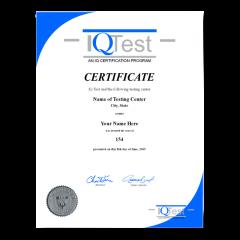 Order Fake Mensa Certificate! Top Premium Layouts! Updated 2020! Just $74.95!