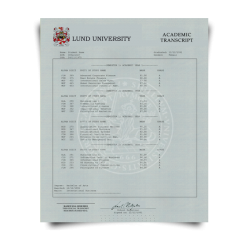Buy Fake Transcript from Sweden University! New 2020 Classes! Embossed! Most Lifelike Novelty! For $199.00!