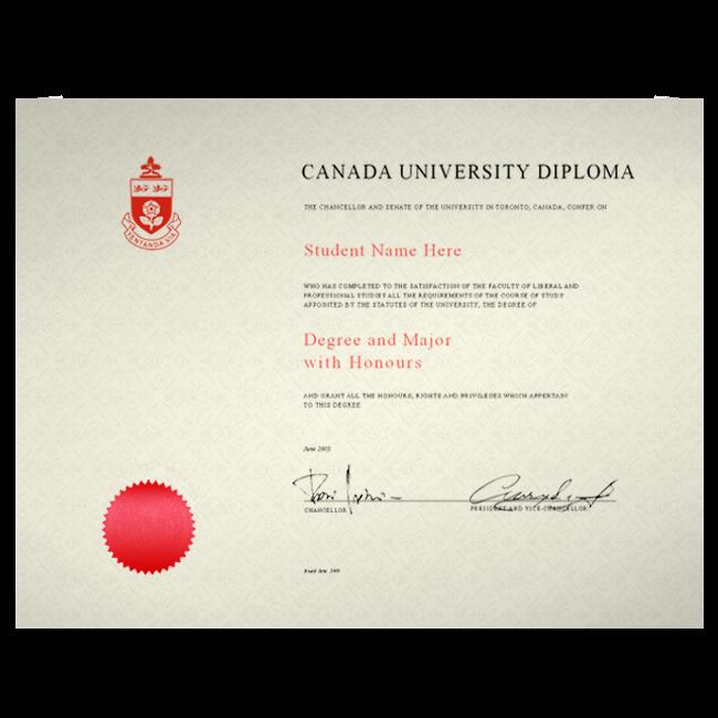 Fake Diploma from Canada University