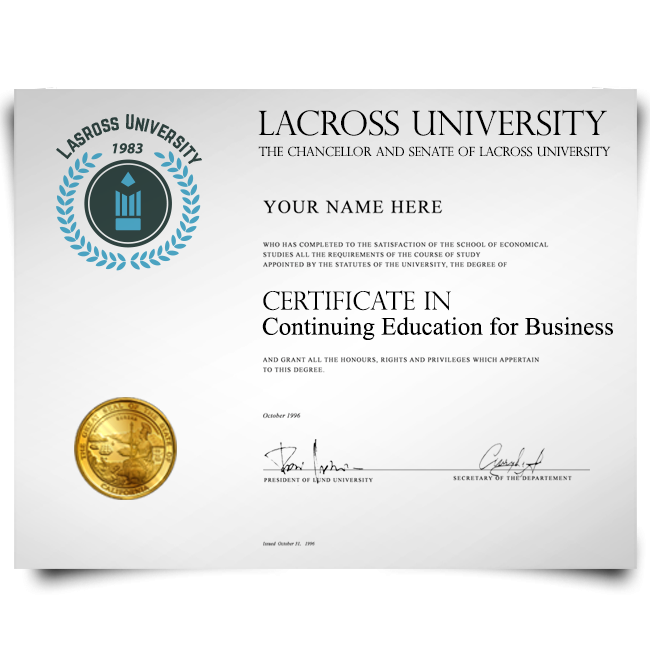 Fake College Certificate