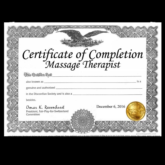 Fake Massage Therapist Certificates