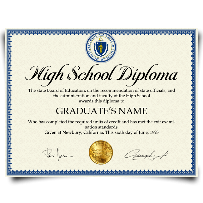 Fake High School Diploma from USA