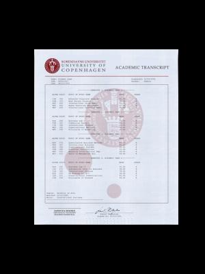 fake transcript denmark, fake denmark transcript, fake denmark college transcript, fake denmark college marksheet, University of Copenhagen, University of Southern Denmark