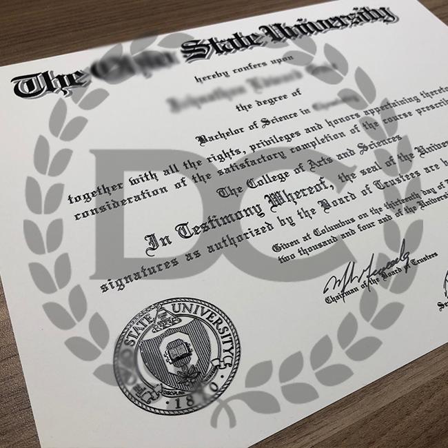 fake ohio state university college diploma