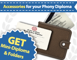 fake diploma accessories, accessories for fake diplomas, fake degree accessories
