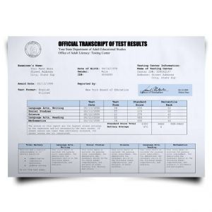 Fake GED Transcript from USA