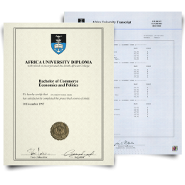 Fake Diploma & Transcript from South Africa University! Complete Package! Best Value! 100% Satisfaction Guaranteed! Only $379.00!