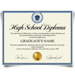 Order Fake High School Diploma from USA! Best Premium Layouts! Updated 2020! Only $99.00!