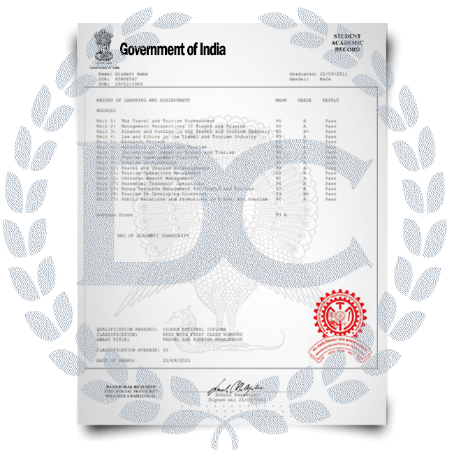 Buy Fake Transcript from India University! New 2020 Classes! Embossed! Most Lifelike Novelty! Only $199.00!