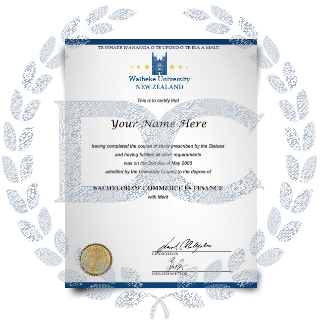 Order Fake Diploma from New Zealand University! Best Premium Layouts! Updated 2020! Just $199.00!