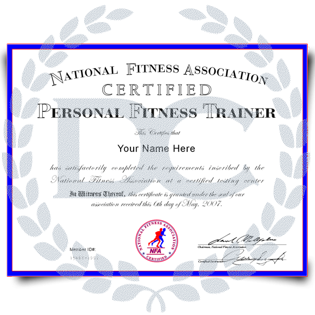 Order Fake Personal Training Certificate! Best Premium Layouts! Updated 2020! Just $79.00!