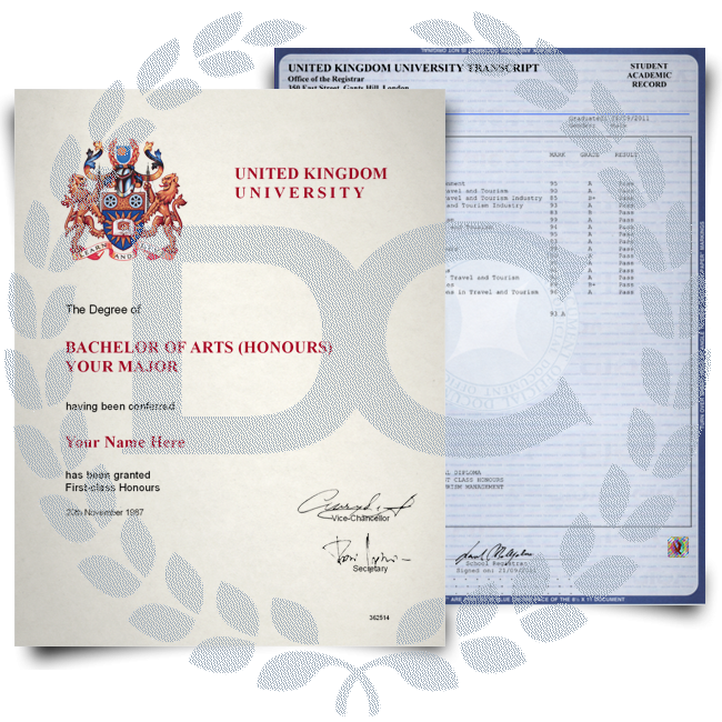 Fake Diploma & Transcript from United Kingdom University! Complete Package! Best Deal! 100% Satisfaction Guaranteed! Only $379.00!