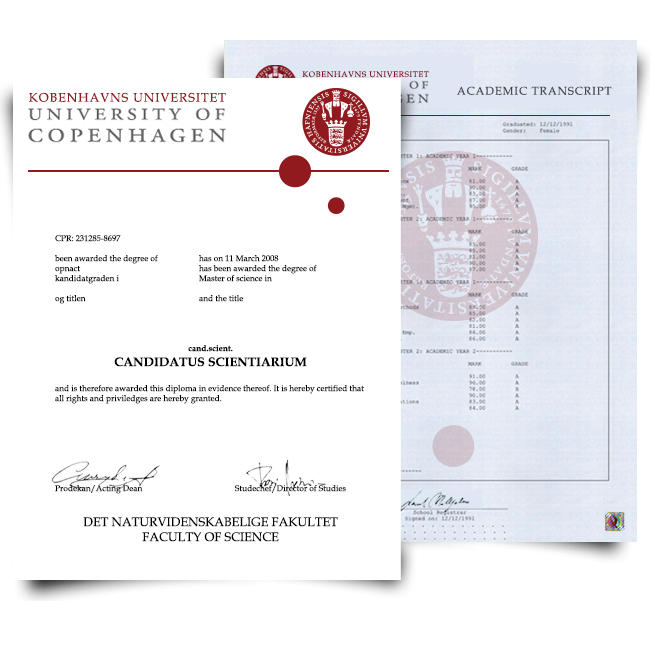 Fake Diploma & Transcript from Denmark University! Total Package! Best Value! 100% Satisfaction Guaranteed! Just $379.00!